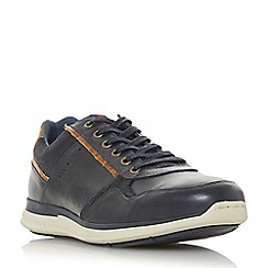 Dune - Navy 'Tyne castle' stripe tab trainers