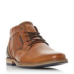 Dune - Tan 'Cammo' camo detail chukka boots