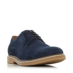 Dune - Navy 'Balerno' suede desert shoes