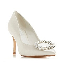 Dune - Ivory 'Adorne' mid stiletto heel court shoes