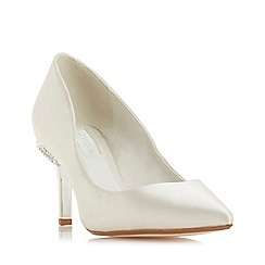Dune - Ivory 'Bells' mid stiletto heel court shoes