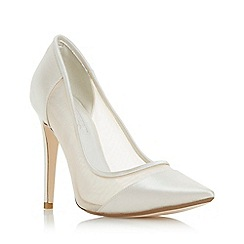 Dune - Ivory 'Bride to be' high stiletto heel court shoes