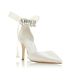 Dune - Ivory 'Church' high stiletto heel slingbacks