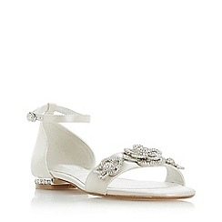 Dune - Ivory 'Noted' ankle strap sandals