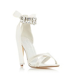 Dune - Ivory 'Mrs' high stiletto heel ankle strap sandals