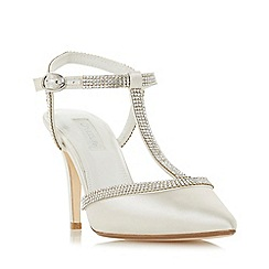 Dune - Ivory 'Delightes' high stiletto heel court shoes