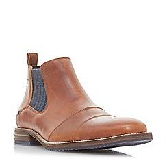 Dune - Tan 'Comiston' double toecap Chelsea boots