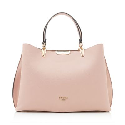 Dune   Light Pink 'darrow' Large Textured Handbag by Dune