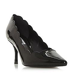 Dune - Black 'Beckky' mid stiletto heel court shoes