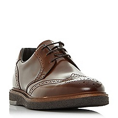 Bertie - Tan 'Balhamn' wedge sole brogue shoes