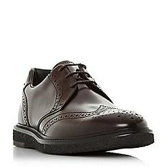 Bertie - Dark red 'Balhamn' wedge sole brogue shoes