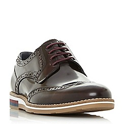 Bertie - Dark red 'Blackheath' wedge sole brogue shoes