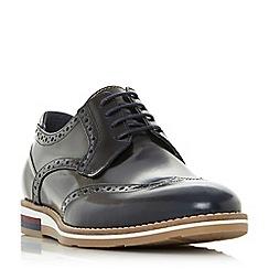 Bertie - Navy 'Blackheath' wedge sole brogue shoes