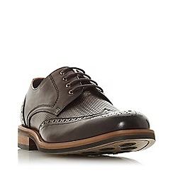 Bertie - Brown 'Packman weave' woven brogue shoes