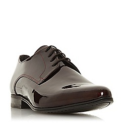 Bertie - Maroon 'Savior' pointed gibson shoes