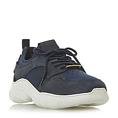 Dune - Navy 'Tourmaline' neoprene sock chunky trainers