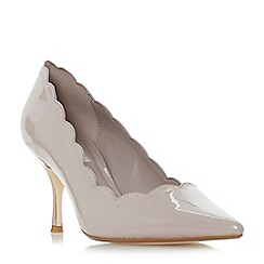 Dune - Light cream 'Beckky' mid stiletto heel court shoes