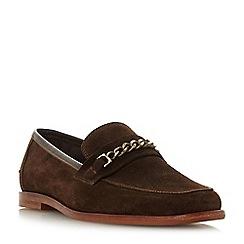 Bertie - Brown 'Surbiton' suede square toe loafers
