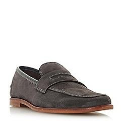 Bertie - Grey 'Soho' penny loafers
