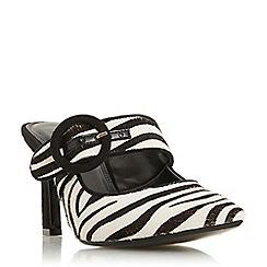 Dune - Multicoloured leather 'Decore' mid kitten heel court shoes