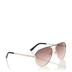 Dune - Black 'Goa' Enamel Trim Aviator Sunglasses