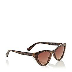 Dune - Brown 'Gateaus' Cat Eye Sunglasses