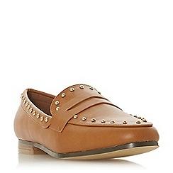 Head Over Heels by Dune - Tan 'Gesta' loafers