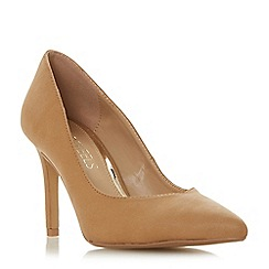 Head Over Heels by Dune - Natural 'Alexxis' high stiletto heel court shoes