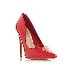 Head Over Heels by Dune - Red 'Aimees' high stiletto heel court shoes