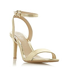 Head Over Heels by Dune - Gold 'Milania' high stiletto heel ankle strap sandals