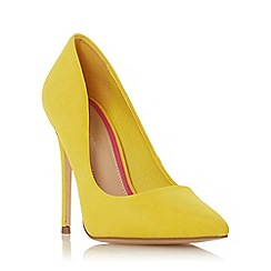 Head Over Heels by Dune - Yellow 'Aimees' high stiletto heel court shoes