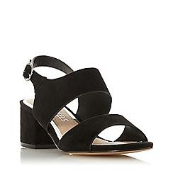 Head Over Heels by Dune - Black 'Jace' mid block heel sling backs