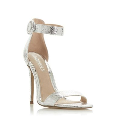 433041cee35 Head Over Heels by Dune - Silver  Malay  high stiletto heel ankle strap  sandals