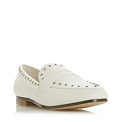 Head Over Heels by Dune - White 'Gesta' Loafers