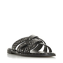 Head Over Heels by Dune - Black 'Lucca' mule slippers