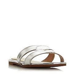 Head Over Heels by Dune - Silver 'Lucien' peep toe sandals