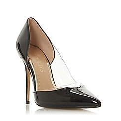 Head Over Heels by Dune - Black 'Cecil' stiletto heel court shoes
