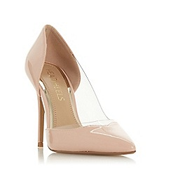 Head Over Heels by Dune - Natural 'Cecil' high stiletto heel court shoes