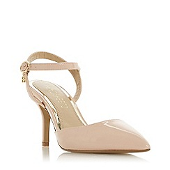 Head Over Heels by Dune - Natural 'Cindi' high stiletto heel court shoes