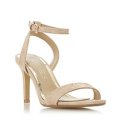 Head Over Heels by Dune - Natural 'Milania' high stiletto heel ankle strap sandals