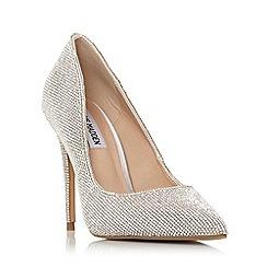 Steve Madden - Silver 'Daisie Sm' High Stiletto Heel Court Shoes