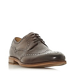 Dune - Brown 'Souris' embossed wingtip brogues
