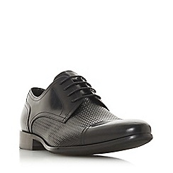 Dune - Black 'Serra' woven embossed lace up shoes