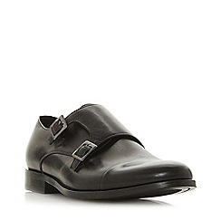 Dune - Black 'Prise' double buckle monk shoes