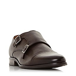 Dune - Brown 'Prise' double buckle monk shoes