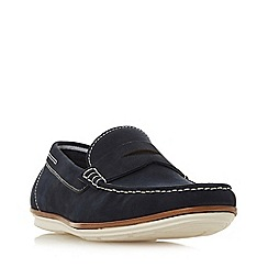 Dune - Navy 'Baloon' Casual Apron Loafers