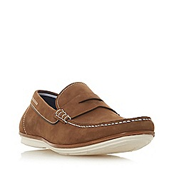 Dune - Tan 'Baloon' casual apron loafers