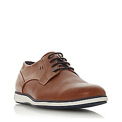 Dune - Tan 'Bamfield' perforated derby shoes