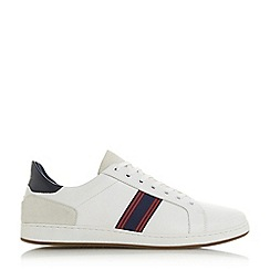 Dune - White 'Torontos' Embroidered Stripe Trainers