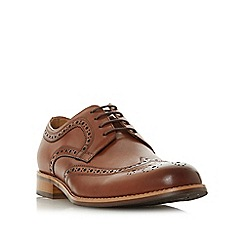 Dune - Tan 'Raidcliffe' lace up brogue shoes